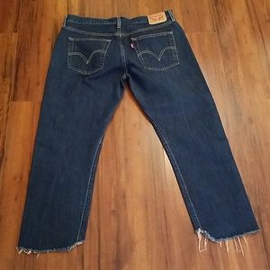 Levi's cropped 501 jeans